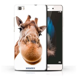 STUFF4 Phone Case/Cover for Huawei P8 Lite/Closeup Giraffe Design/Funny Animals Collection Mobile phones