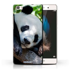 STUFF4 Phone Case/Cover for Huawei P8 Lite/Panda Bear Design/Wildlife Animals Collection Mobile phones