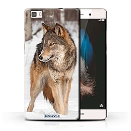 STUFF4 Phone Case/Cover for Huawei P8 Lite/Wolf Design/Wildlife Animals Collection Mobile phones