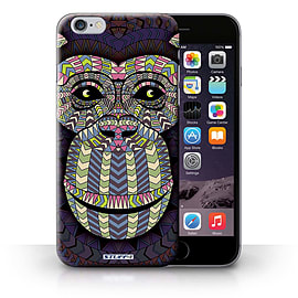 STUFF4 Phone Case/Cover for iPhone 6+/Plus 5.5/Monkey-Colour Design/Aztec Animal Design Collection Mobile phones