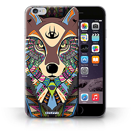 STUFF4 Phone Case/Cover for iPhone 6+/Plus 5.5/Wolf-Colour Design/Aztec Animal Design Collection Mobile phones