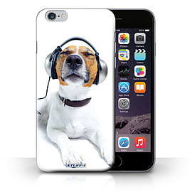 STUFF4 Phone Case/Cover for iPhone 6+/Plus 5.5/Chillin Headphone Dog Design/Funny Animals Collection Mobile phones