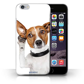STUFF4 Phone Case/Cover for iPhone 6+/Plus 5.5/Listening Dog Design/Funny Animals Collection Mobile phones