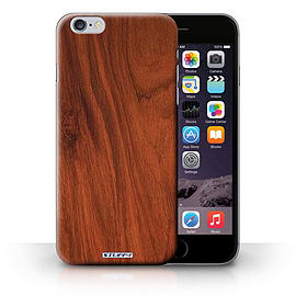 STUFF4 Phone Case/Cover for iPhone 6+/Plus 5.5/Mahogany Design/Wood Grain Effect/Pattern Collection Mobile phones