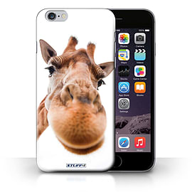 STUFF4 Phone Case/Cover for Apple iPhone 6S+/Plus/Closeup Giraffe Design/Funny Animals Collection Mobile phones