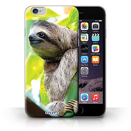 STUFF4 Phone Case/Cover for Apple iPhone 6S+/Plus/Sloth Design/Wildlife Animals Collection Mobile phones