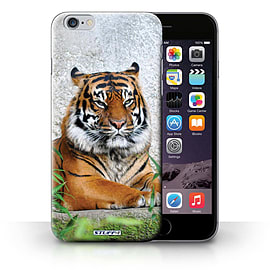 STUFF4 Phone Case/Cover for Apple iPhone 6S+/Plus/Tiger Design/Wildlife Animals Collection Mobile phones