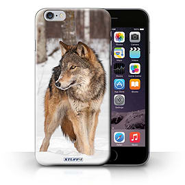 STUFF4 Phone Case/Cover for Apple iPhone 6S+/Plus/Wolf Design/Wildlife Animals Collection Mobile phones