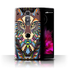 STUFF4 Phone Case/Cover for LG G Flex 2/H955/Wolf-Colour Design/Aztec Animal Design Collection Mobile phones
