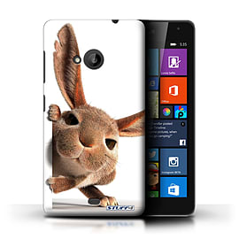 STUFF4 Phone Case/Cover for Microsoft Lumia 535/Peeking Bunny Design/Funny Animals Collection Mobile phones