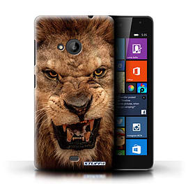 STUFF4 Phone Case/Cover for Microsoft Lumia 535/Lion Design/Wildlife Animals Collection Mobile phones