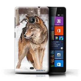 STUFF4 Phone Case/Cover for Microsoft Lumia 535/Wolf Design/Wildlife Animals Collection Mobile phones