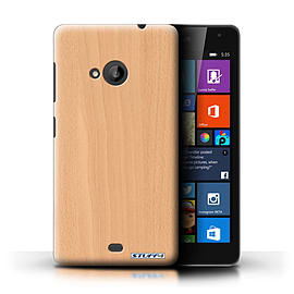 STUFF4 Phone Case/Cover for Microsoft Lumia 535/Beech Design/Wood Grain Effect/Pattern Collection Mobile phones