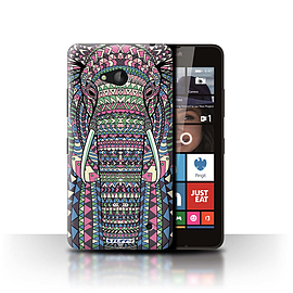 STUFF4 Phone Case/Cover for Microsoft Lumia 640/Elephant-Colour Design/Aztec Animal Design Mobile phones