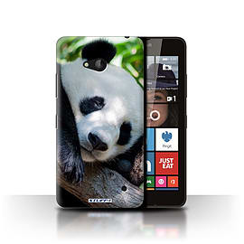 STUFF4 Phone Case/Cover for Microsoft Lumia 640/Panda Bear Design/Wildlife Animals Collection Mobile phones