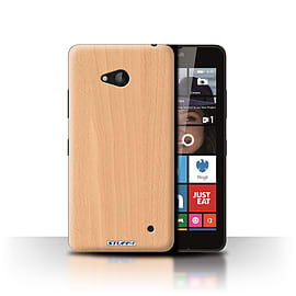 STUFF4 Phone Case/Cover for Microsoft Lumia 640/Beech Design/Wood Grain Effect/Pattern Collection Mobile phones