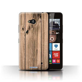 STUFF4 Phone Case/Cover for Microsoft Lumia 640/Plank Design/Wood Grain Effect/Pattern Collection Mobile phones