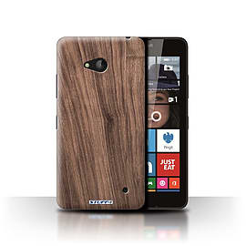 STUFF4 Phone Case/Cover for Microsoft Lumia 640/Walnut Design/Wood Grain Effect/Pattern Collection Mobile phones
