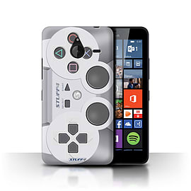 STUFF4 Phone Case/Cover for Microsoft Lumia 640 XL/Playstation PS1 Design/Games Console Collection Mobile phones