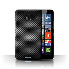 STUFF4 Phone Case/Cover for Microsoft Lumia 640 XL/Grey Design/Carbon Fibre Effect/Pattern Mobile phones