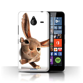 STUFF4 Phone Case/Cover for Microsoft Lumia 640 XL/Peeking Bunny Design/Funny Animals Collection Mobile phones