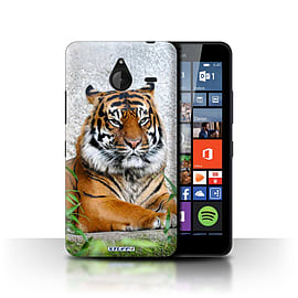 STUFF4 Phone Case/Cover for Microsoft Lumia 640 XL/Tiger Design/Wildlife Animals Collection Mobile phones