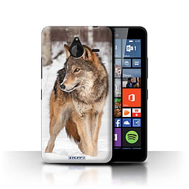 STUFF4 Phone Case/Cover for Microsoft Lumia 640 XL/Wolf Design/Wildlife Animals Collection Mobile phones
