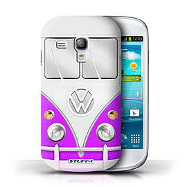STUFF4 Phone Case/Cover for Samsung Galaxy S3 Mini/Purple Design/VW Camper Van Collection Mobile phones