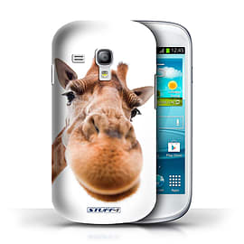 STUFF4 Phone Case/Cover for Samsung Galaxy S3 Mini/Closeup Giraffe Design/Funny Animals Collection Mobile phones