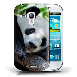 STUFF4 Phone Case/Cover for Samsung Galaxy S3 Mini/Panda Bear Design/Wildlife Animals Collection Mobile phones