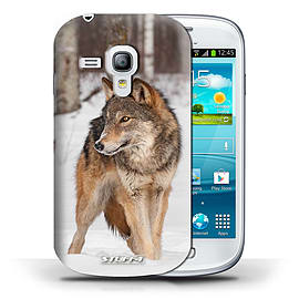 STUFF4 Phone Case/Cover for Samsung Galaxy S3 Mini/Wolf Design/Wildlife Animals Collection Mobile phones