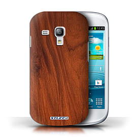 STUFF4 Phone Case/Cover for Samsung Galaxy S3 Mini/Mahogany Design/Wood Grain Effect/Pattern Mobile phones