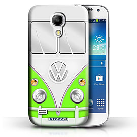 STUFF4 Phone Case/Cover for Samsung Galaxy S4 Mini/Green Design/VW Camper Van Collection Mobile phones