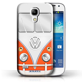 STUFF4 Phone Case/Cover for Samsung Galaxy S4 Mini/Red Design/VW Camper Van Collection Mobile phones