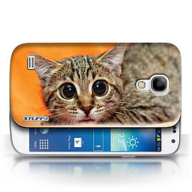STUFF4 Phone Case/Cover for Samsung Galaxy S4 Mini/Big Eye Cat Design/Funny Animals Collection Mobile phones