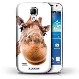 STUFF4 Phone Case/Cover for Samsung Galaxy S4 Mini/Closeup Giraffe Design/Funny Animals Collection Mobile phones