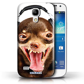 STUFF4 Phone Case/Cover for Samsung Galaxy S4 Mini/Ridiculous Dog Design/Funny Animals Collection Mobile phones