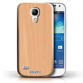 STUFF4 Phone Case/Cover for Samsung Galaxy S4 Mini/Beech Design/Wood Grain Effect/Pattern Collection Mobile phones