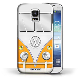 STUFF4 Phone Case/Cover for Samsung Galaxy S5 Mini/Orange Design/VW Camper Van Collection Mobile phones