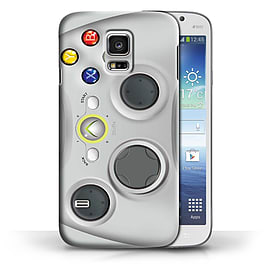 STUFF4 Phone Case/Cover for Samsung Galaxy S5 Mini/White Xbox 360 Design/Games Console Collection Mobile phones