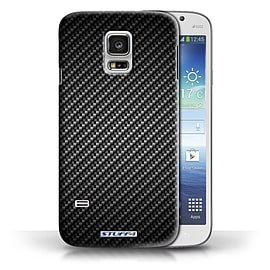 STUFF4 Phone Case/Cover for Samsung Galaxy S5 Mini/Grey Design/Carbon Fibre Effect/Pattern Mobile phones
