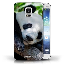 STUFF4 Phone Case/Cover for Samsung Galaxy S5 Mini/Panda Bear Design/Wildlife Animals Collection Mobile phones