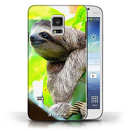 STUFF4 Phone Case/Cover for Samsung Galaxy S5 Mini/Sloth Design/Wildlife Animals Collection Mobile phones