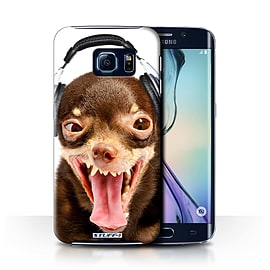 STUFF4 Phone Case/Cover for Samsung Galaxy S6 Edge/Ridiculous Dog Design/Funny Animals Collection Mobile phones