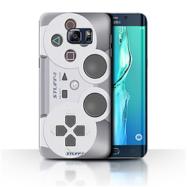 STUFF4 Phone Case/Cover for Samsung Galaxy S6 Edge+/Plus/Playstation PS1 Design/Games Console Mobile phones