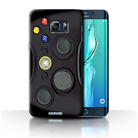 STUFF4 Phone Case/Cover for Samsung Galaxy S6 Edge+/Plus/Black Xbox 360 Design/Games Console Mobile phones