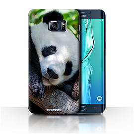 STUFF4 Phone Case/Cover for Samsung Galaxy S6 Edge+/Plus/Panda Bear Design/Wildlife Animals Mobile phones
