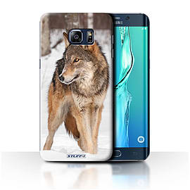 STUFF4 Phone Case/Cover for Samsung Galaxy S6 Edge+/Plus/Wolf Design/Wildlife Animals Collection Mobile phones