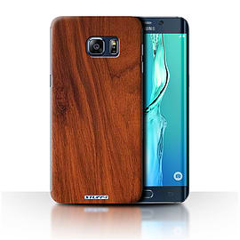 STUFF4 Phone Case/Cover for Samsung Galaxy S6 Edge+/Plus/Mahogany Design/Wood Grain Effect/Pattern Mobile phones