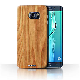STUFF4 Phone Case/Cover for Samsung Galaxy S6 Edge+/Plus/Oak Design/Wood Grain Effect/Pattern Mobile phones